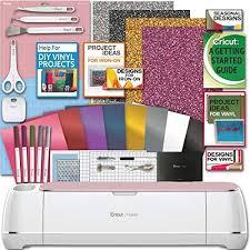 Amazon.com: Cricut Maker Machine Bundle 1 Beginner Cricut Guide Smooth Heat  Transfer Permanent Vinyl Tools Designs